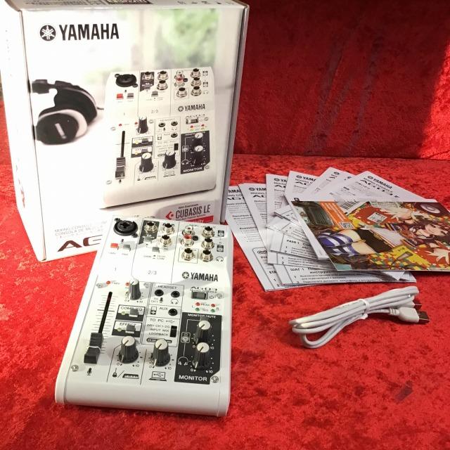 【即納できます!】【送料無料】YAMAHA AG03(インターネット配信をサポートするウェブキャスティングミキサー)【アナログミキサー】【11/23付ランキング2位受賞】【G-CLUB渋谷】