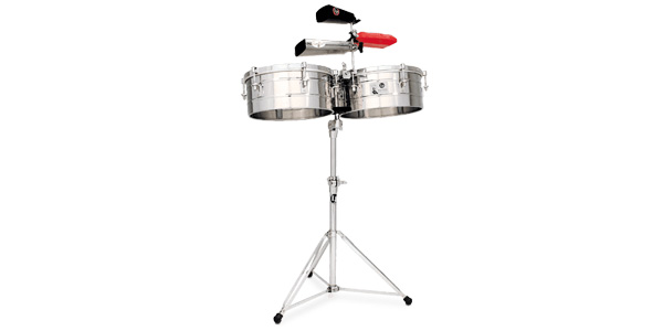 LP256-S LP Tito Puente Timbales 13″ & 14″ Shells, Stainless Steel(ステンレススチール)