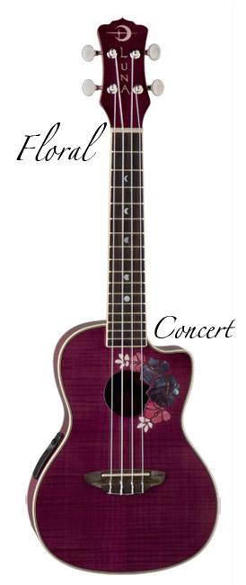 Luna Guitars UKE FLORAL コンサート【送料無料】(入荷しました!)【ONLINE STORE】