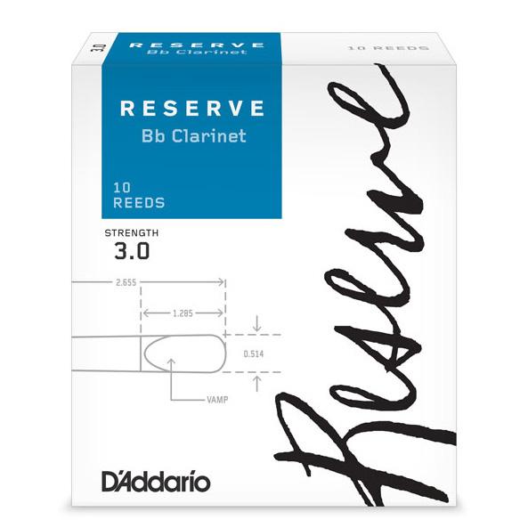永遠の定番 リード 《ダダリオ RICO》 D'Addario Woodwinds 本物 RESERVE ダダリオ スタンダード レゼルヴ ONLINE 10枚入り B♭クラリネット用リード STORE