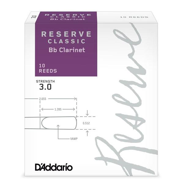 リード 《ダダリオ RICO》 D'Addario Woodwinds ギフ_包装 RESERVE Classic ONLINE B♭クラリネット用リード ダダリオ STORE レゼルヴ 10枚入り 超特価SALE開催 クラッシック