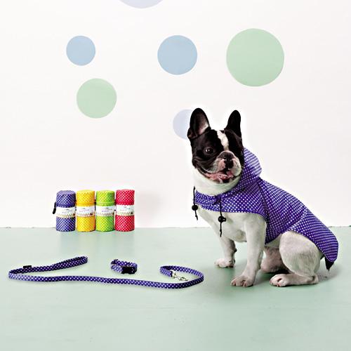 犬 服/ドッグウェア フィールドポイント 雨の日ポーチ(レインコート・首輪・リード)SS~L 【小型犬~中型犬用レインコート/ドッグウエア/マント・ポンチョタイプ/雨具/カッパ】【梅雨対策】【犬用品/ペット用品/Raincoat】
