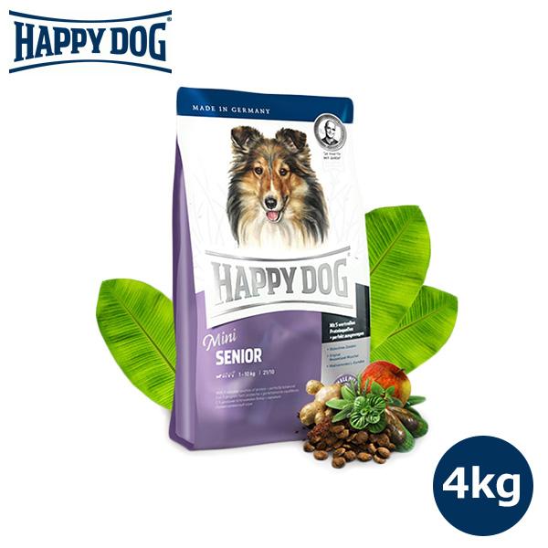 HAPPY DOG ミニ シニア 4kg 【HAPPY DOG/ドッグフード/ドライフード/高齢犬/プレミアムフード/ドックフード/DOG FOOD/ペットフード】【犬用品/ペット・ペットグッズ/ペット用品】