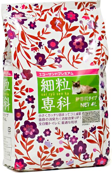 猫砂横幅 ecorsandpremia (猫砂) 细粒度染化 4 l