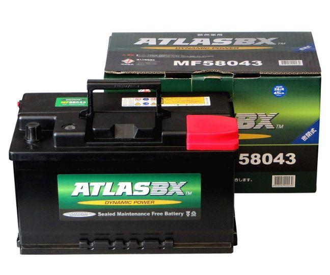 ATLASBX(アトラス)輸入車バッテリー【MF-58043】新品 送料無料(一部エリアを除く)