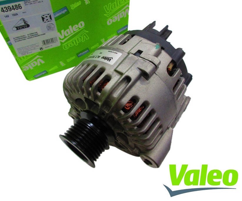 【代引き出荷可能/安心1年保証付き】Valeo製 オルタネーター ダイナモ新品(14V 150AMP)BMW E46 3シリーズ E60 E61 5シリーズ E65 E66 7シリーズ X3 E83(12317546285/439486)