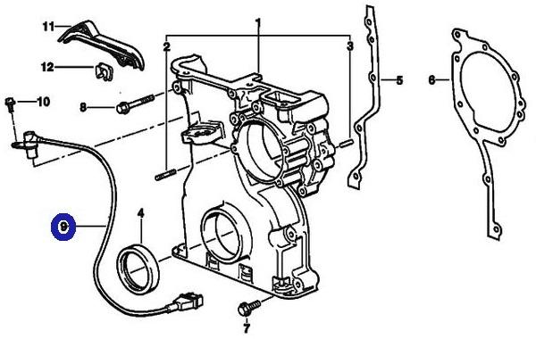 BMW E36 E39 E38 Z3 E36/クランクカクポジションセンサー新品(12141703277)