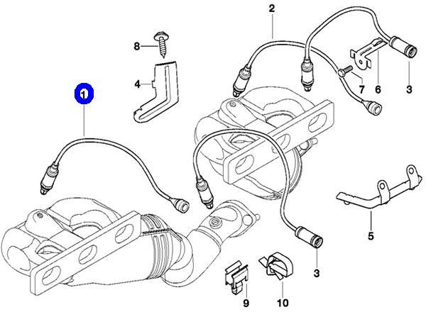 【送料サービス/送料込】BMW E46 E39 E60 E61 E65 E66 Z3 E36 Z4 E85/BOSCH製 オーツーセンサー O2センサー新品(11787503441/0258005259)