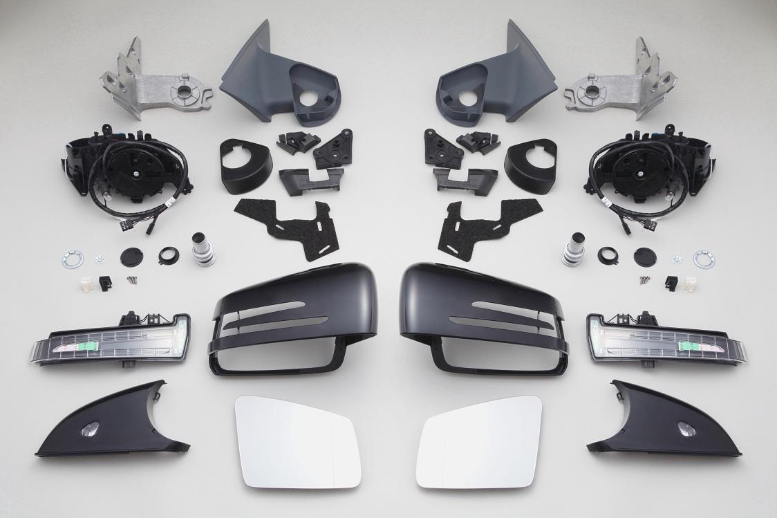 ベンツ W221 Sクラス 後期ルック 後期LOOK ウィンカー ドアミラーASSY左右セット(アロースタイル アローウィンカー カニ爪)