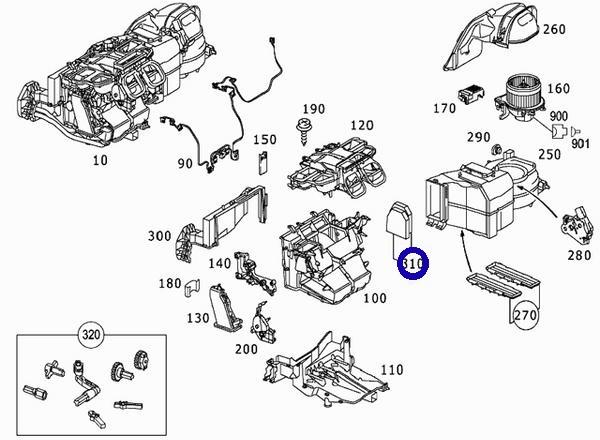 ベンツ R230 W463/CORTECO製 チャコールフィルター コンビネーションフィルター(外気/活性炭) 230-830-0418