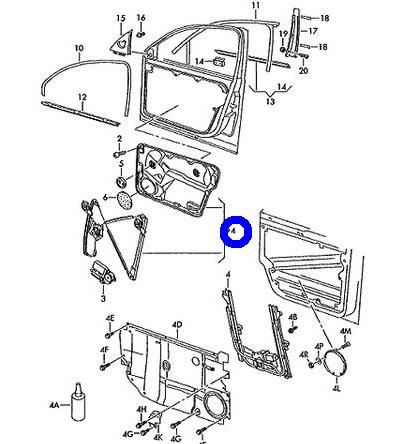 VW パサート 純正品 ウィンドーレギュレター 右フロント 右側(3B2837462)