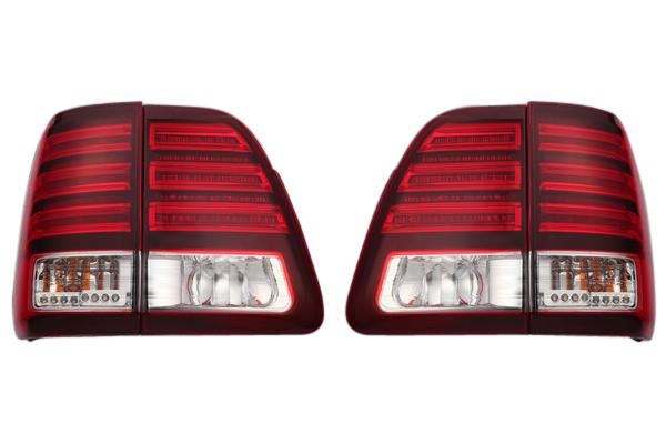 トヨタ ランクル100系 ランドクルーザー100系 前期・中期 ~2005年3月/レクサスルック LXルック シグナスルック LEDテールランプ LEDテールライト左右セット新品 TY883-B0RE4