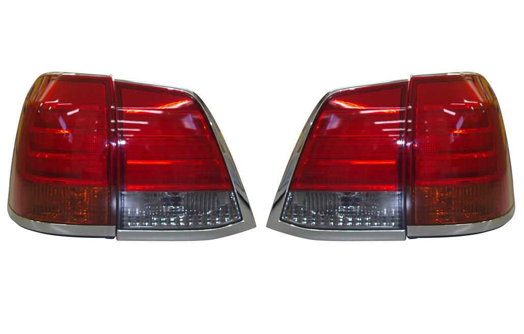 LEDテールライト ウィンカー部:オレンジ、バックランプ部:スモーク TY1025-B9DA4/トヨタ ランクル ランドクルーザー200系 2015/7以前 (パワーゲート無し車用)