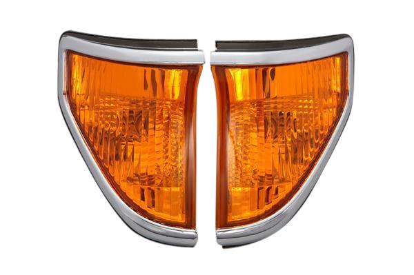 DEPO製 トヨタ ランクル ランドクルーザー 70系 プラド(71/78)クリスタル クリアコーナーマーカー(オレンジ)左右セット新品 212-1569PXA-VY