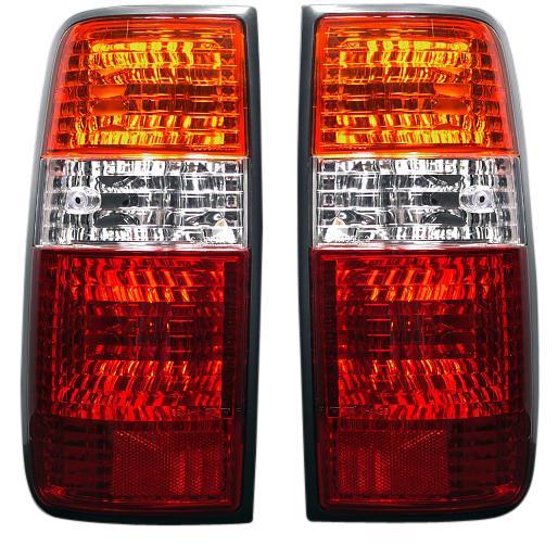 DEPO製 ランドクルーザー ランクル 80系 全年式対応 クリスタルテールライト左右セット 3色(レッド・クリア・オレンジ)11-A495-E1-5Z