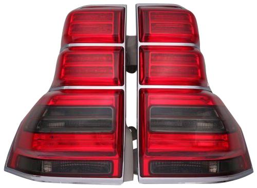 トヨタ ランクル ランドクルーザー 150系 プラド 前期・中期対応/LEDテールランプ LEDテールライト左右 (スモーク・レッド)TY1132-B0DE2