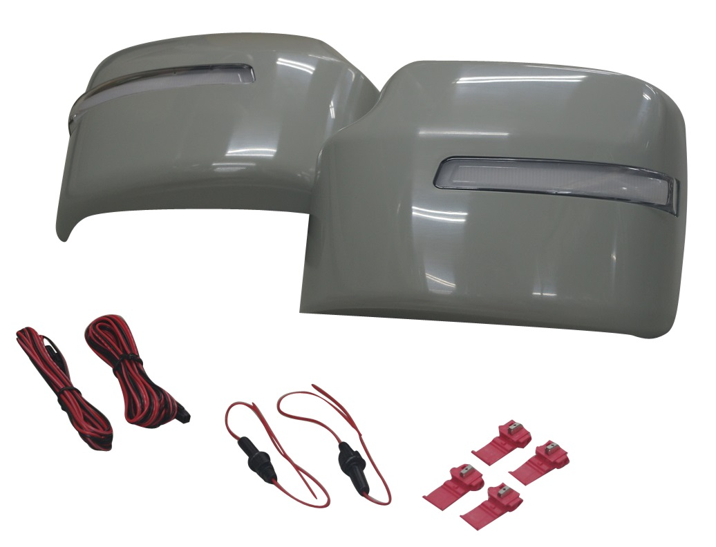 スズキ ジムニーJB64W XL・XG ウィンカー無し車用 流れるウィンカー ドアミラーカバー 素地(ウィンカー部クリア)D82-SZ6740MC