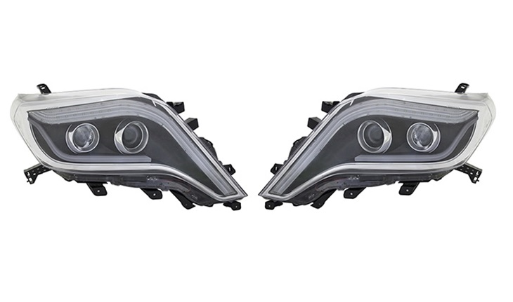 トヨタ 150プラド 2013年~2017年 ハロゲン車対応/プロジェクター ハロゲンヘッドランプ(LEDシーケンシャルウインカー) インナーブラック A10-TY1250B2MTS