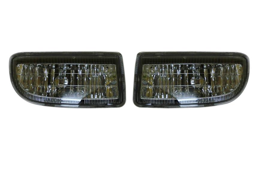 トヨタ ランドクルーザー ランクル 100系/DEPO製 フロントフォグライト フロントフォグランプ(クローム・メッキ) 左右セット 212-2018P-AE