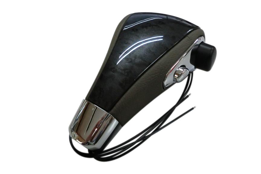 シフトノブ(ベージュ革/黒ウッド) ランクル ランドクルーザー 100系 80系
