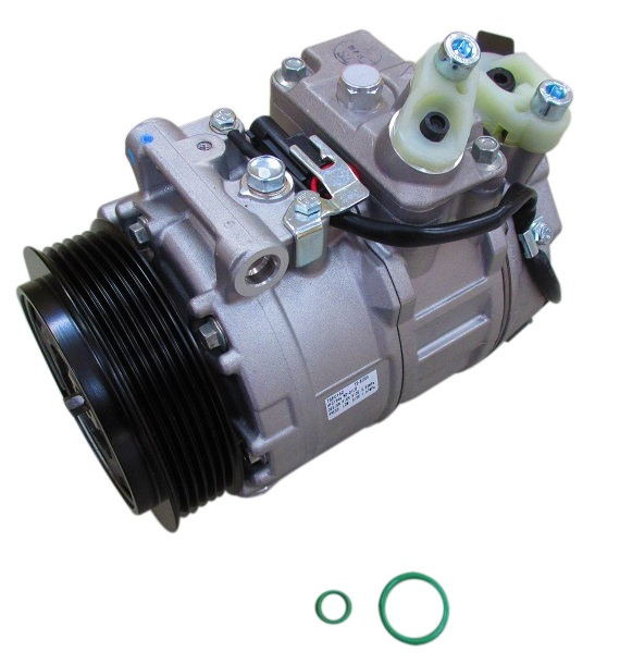 優良品 エアコンコンプレッサー(Oリング付き)新品/ベンツ W220 W215 R230 W203 W209 W163 W463 (0012302811)
