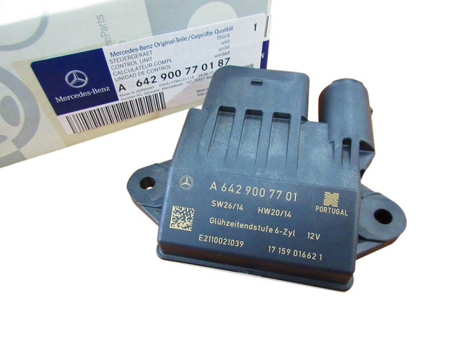 純正品 グロープラグユニット グロープラグコントローラー コントロールユニット新品/W211 W212 W463 W166 W164 X166 M642(V6) ディーゼルエンジン用 (6429007701)