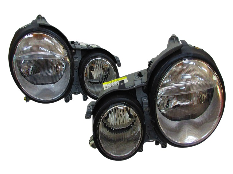 ベンツ W210 Eクラス セダン/ワゴン (後期/00y-) HELLA製 キセノンヘッドライト新品 (2108204161/2108204261)