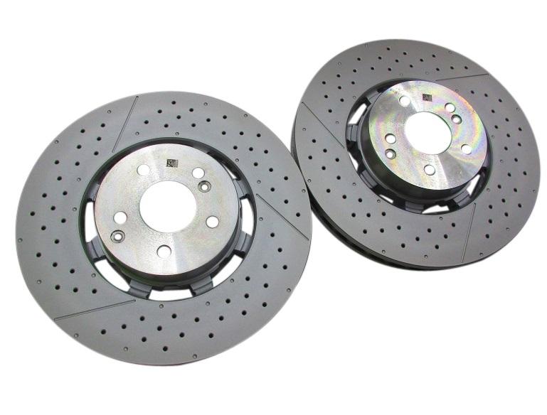 【送料無料/代引き出荷可能】純正品 フロント ブレーキローター (左右) ベンツ W212 W204 W218 (2124210512)x2 ベンチレーテッドディスク ドリルド