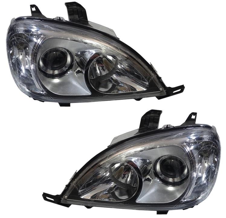 DEPO製 後期LOOK プロジェクターヘッドライト(左右)新品/ベンツ W163 MLクラス (前期用) 440-1149PXRD-EM