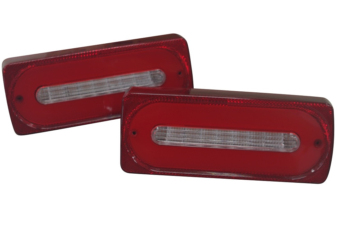 HOWELL製 ベンツ W463 Gクラス 全年式対応/チューブスタイル LED仕様 テールランプ(レッド&クリア)WE-RL0130A1-LED-RED