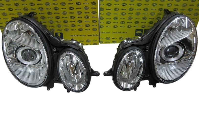 【代引き発送可能/送料無料】W211 Eクラス 前期(-06y) アクティブ付き車用/HELLA製 バイキセノン ヘッドライト新品(2118202161/2118202261)