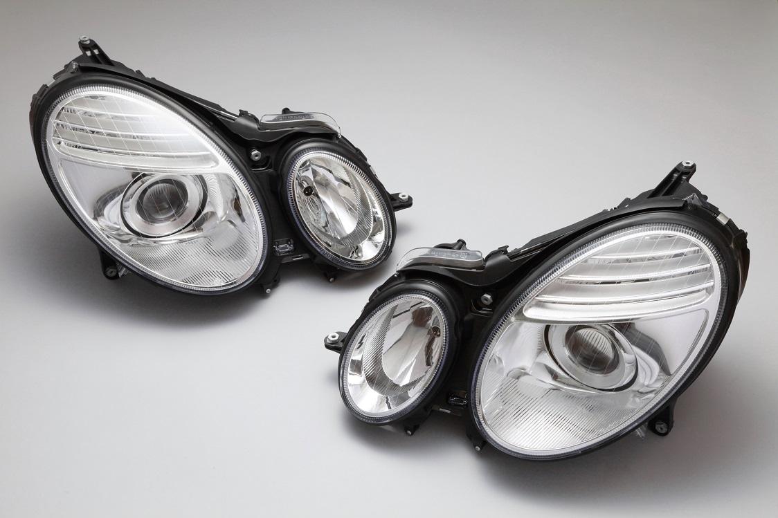 純正HID車用 キセノン 前期 Eクラス AMG DEPO製 ヘッドライト W211 S211 E240 E280 E320 E350 E500 E550 E55 後期ルック 【05P03Dec16】 ベンツ 左右