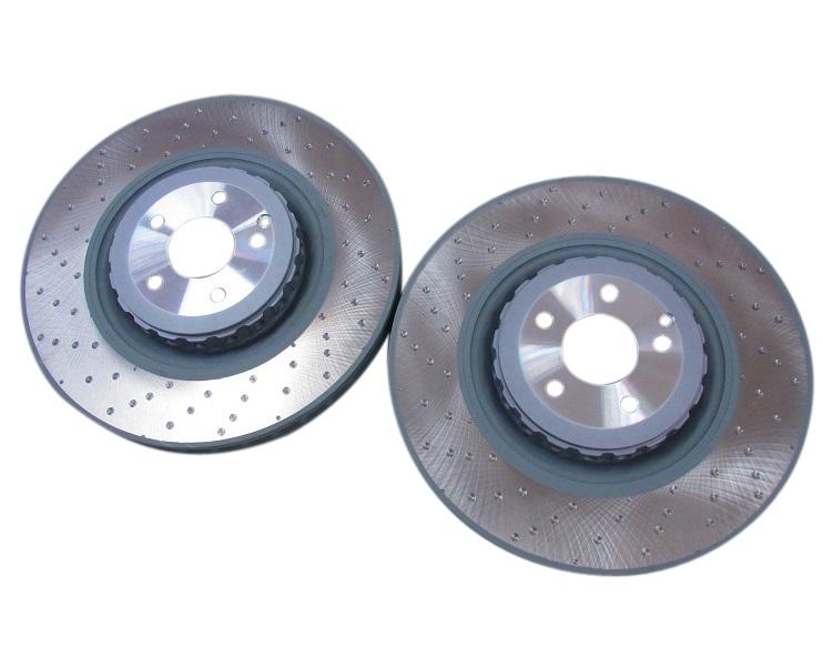 純正品OEM フロント ブレーキローター (左右) ベンツ W221 Sクラス W216 CLクラス (2214211312)x2 ベンチレーテッドディスク