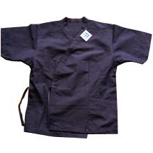 【野川染織工業】武州藍染 たももシャツ 男性用 L【05P03Dec16】