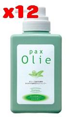 パックス オリーシャンプー ポンプ550ml×12個セット【太陽油脂】【05P03Dec16】