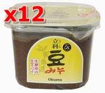 有機立科豆みそ 750g×12pセット【マクロビオティック・オーサワジャパン】【smtb-T】【05P03Dec16】