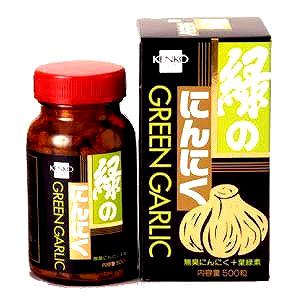 【健康フーズ】 緑のにんにく 500粒×10個【10個買うと1個おまけ付・計11個】【05P03Dec16】