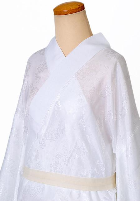 洗える 長襦袢 Lサイズ| 長じゅばん 白 襦袢 着物 レディース 女性 ながじゅばん 定番 和服 和装下着 無双袖 半衿付 衣紋なし 大きい