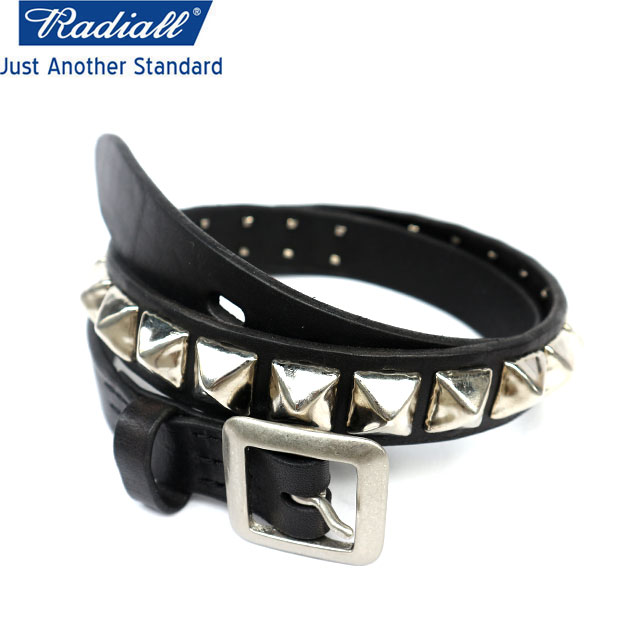 RADIALL ラディアル MONTE CARLO-STUDDED NARROW BELT ベルト BLACK