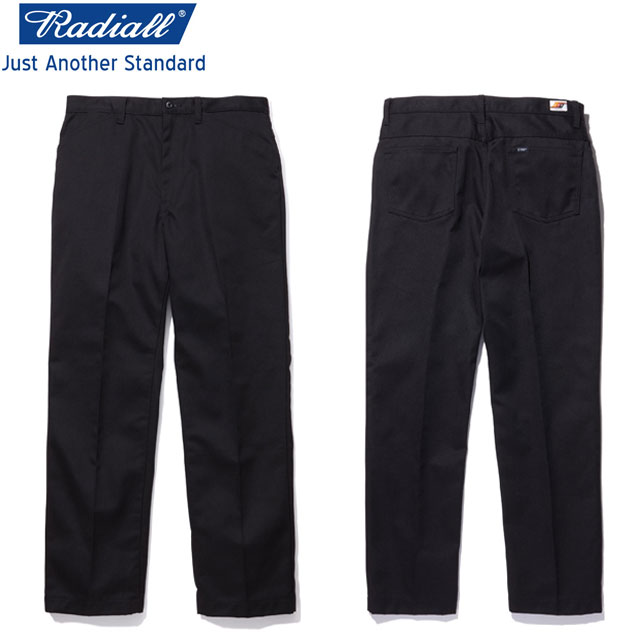 RADIALL ラディアル CVS WORK PANTS-STRAIGHT ワークパンツ BLACK