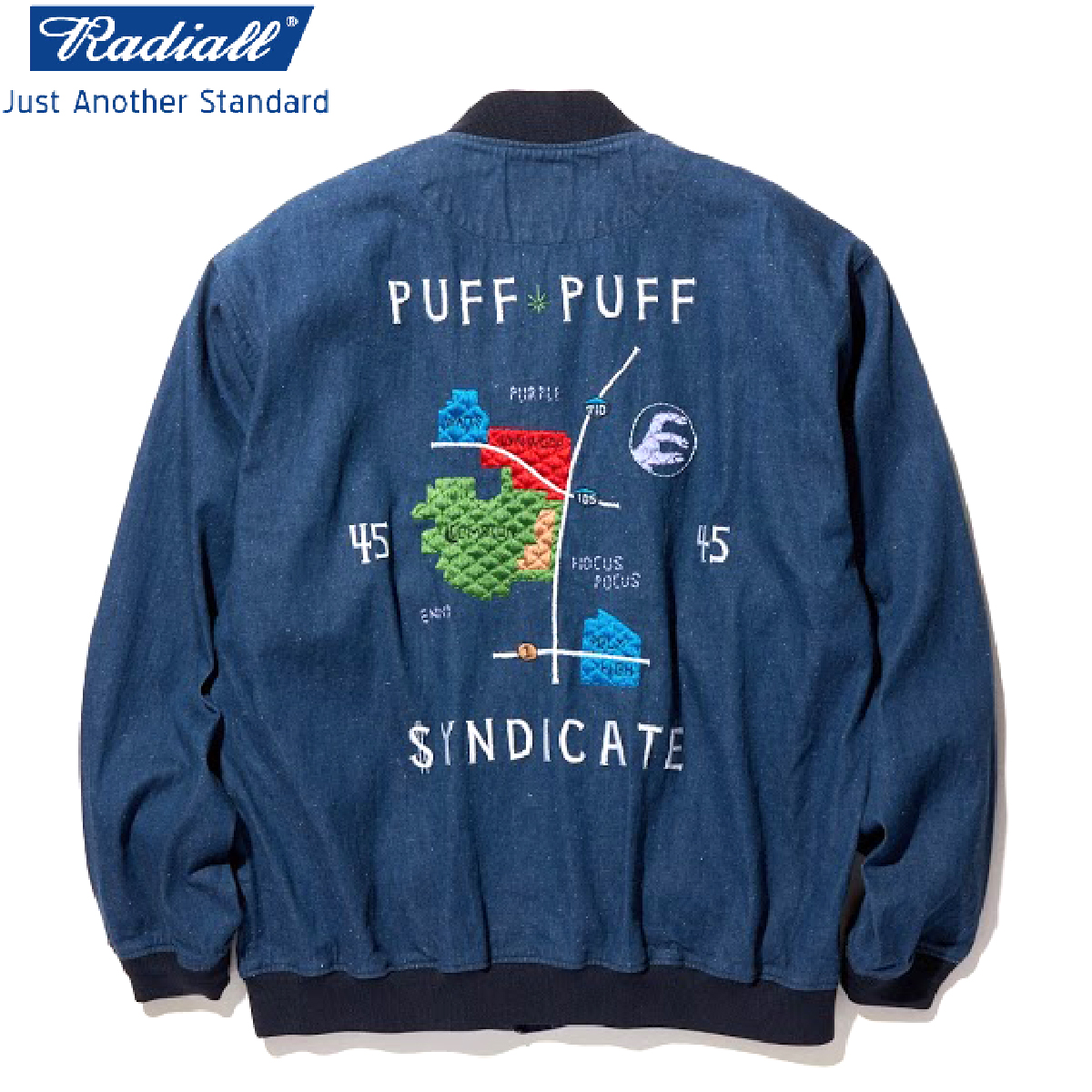 RADIALL ラディアル POLY HIGH - SOUVENIR JACKET スーベニアジャケット INDIGO