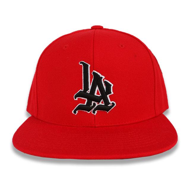 HUERO -LOVE LETTERS TATTOO- LA SNAP BACK CAP RED/BLACK/WHITE