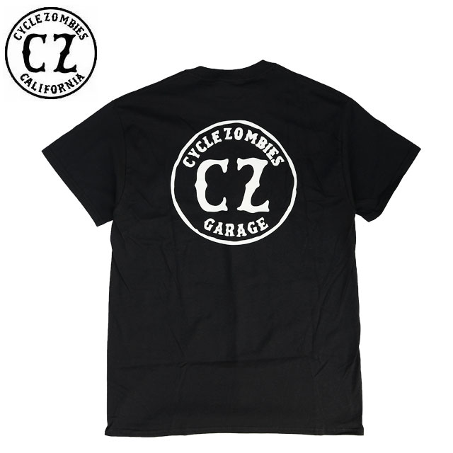 CYCLE ZOMBIES サイクルゾンビーズ GARAGE STANDARD FIT Tシャツ BLACK