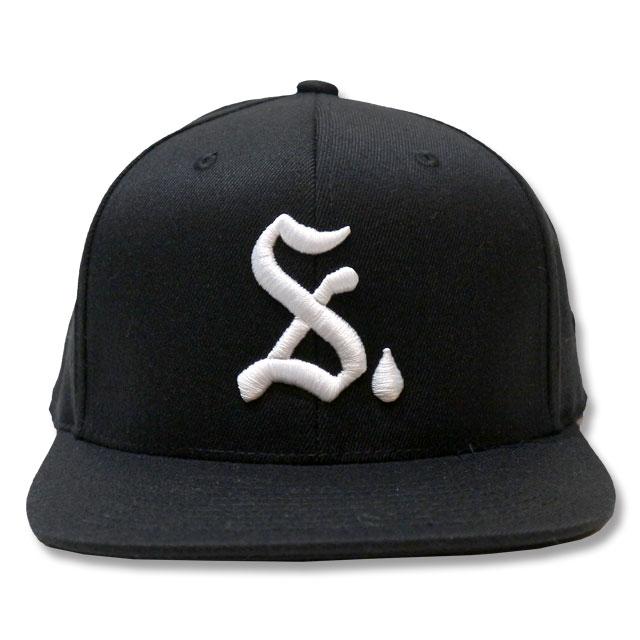 SRVNTZ DROP SNAPBACK CAP スナップバックキャップ BLACK