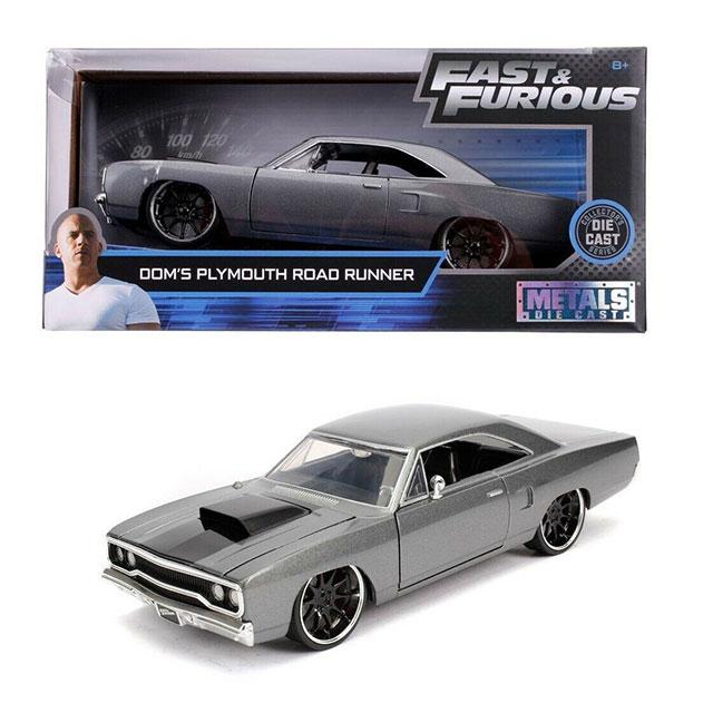 1:24 jada Plymouth Road Runner Fast /& Furious dom greymetallic//Black