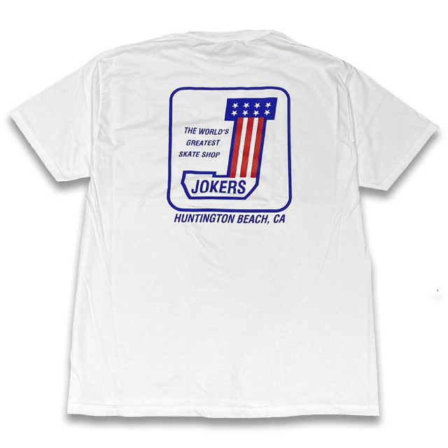 T-SHIRTS 1枚でしたらネコポス発送可能商品 2枚以上は宅急便になります JOKERS SKATE WHITE Tシャツ SHOP #1 国内正規品 クリアランスsale 期間限定