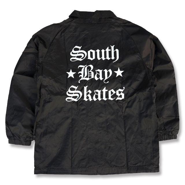 SOUTH BAY SKATES STARS&LOGO COACH JACKET BLACK