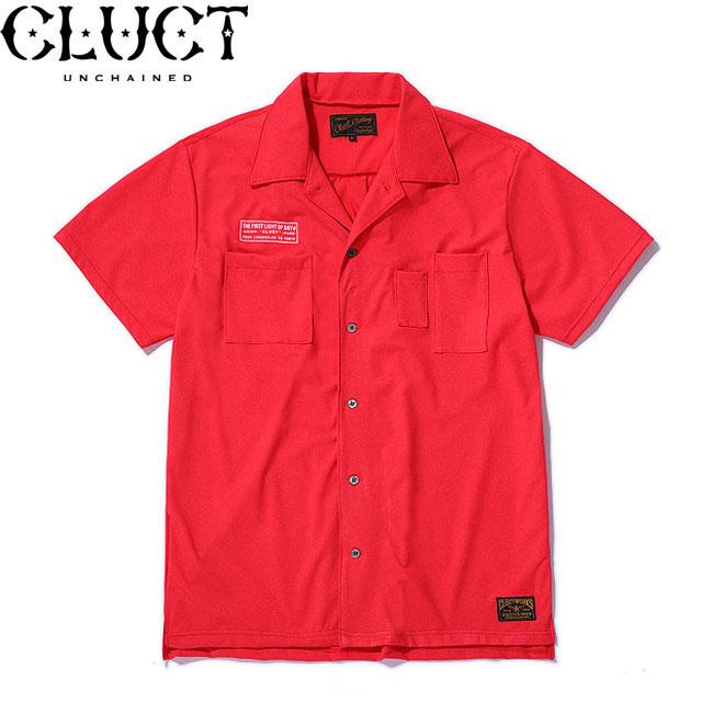 定価17050円 40%OFF!! / CLUCT(クラクト) #02926 PRIMEFLEX OPEN COLLOR S/S SHIRTS 半袖シャツ RED