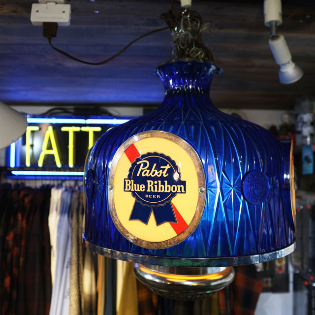 AN215 USED(中古) VINTAGE ANTIQUE PABST BLUE RIBBON BEER LAMP SHADE