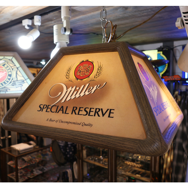 AN228 USED(中古) ANTIQUE MILLER BEER SPECIAL RESERVE BAR POOL TABLE LAMP
